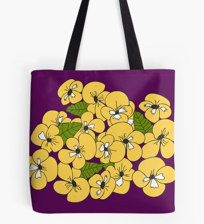 Purple and Pansies  Tote Bag