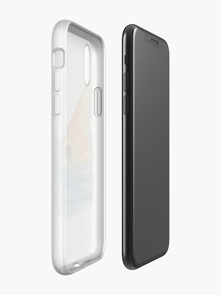 Vista alternativa de Funda y vinilo para iPhone Cola de pescado rojo