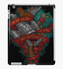 I Aim To Misbehave! iPad Case/Skin