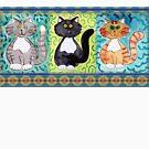Three Whimisical Kitties by KFStudios