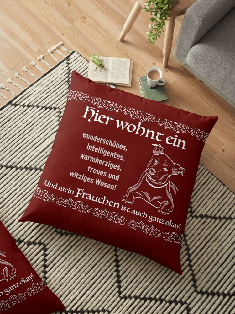 Dog with mum - the perfect flat share! Gift idea for dog owners, for inauguration or birthday. by qwerdenker