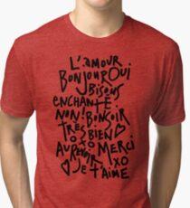 I HEART FRENCH Tri-blend T-Shirt