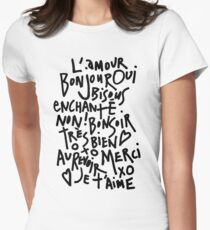 I HEART FRENCH Women's Fitted T-Shirt