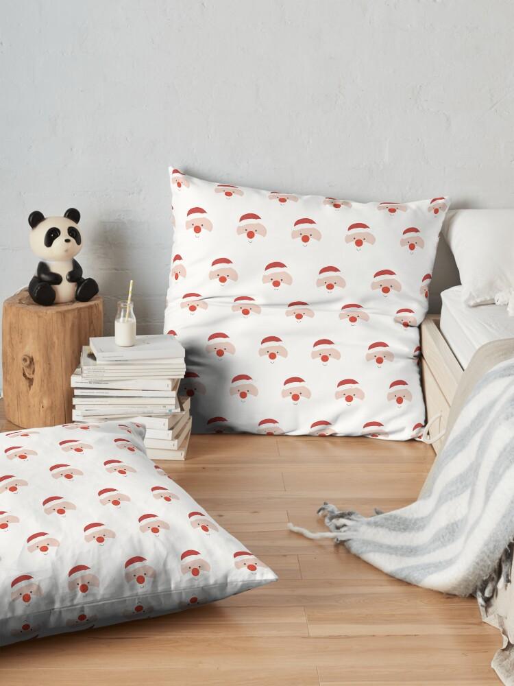 Alternate view of Find the hidden Santa Floor Pillow