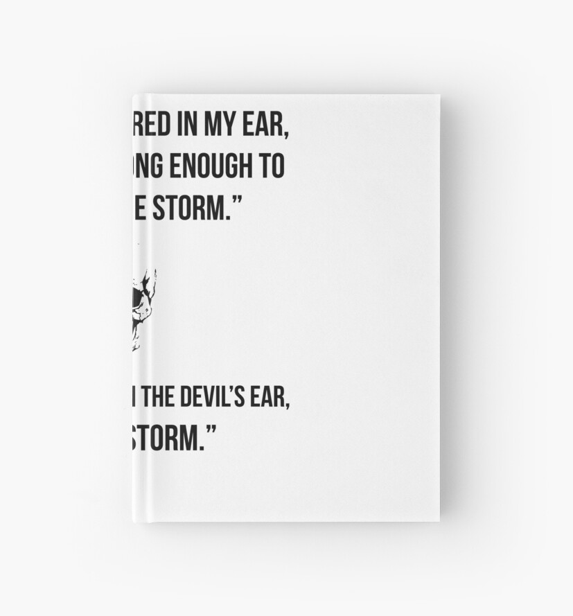 i am the storm quotes hardcover journals by anhshirt redbubble