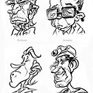 Caricature Sketches 4 by Chris Baker