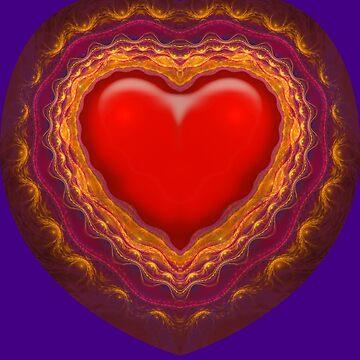 Fractal Heart Tee by tnelson612