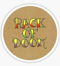 Rack of Doom Tattoo (Round) Sticker
