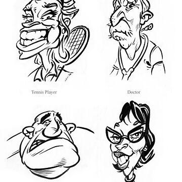 Caricature Sketches 3 by newfeenix