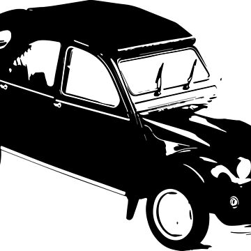 Citroen 2cv Silhouette Sticker | Cars by koovox