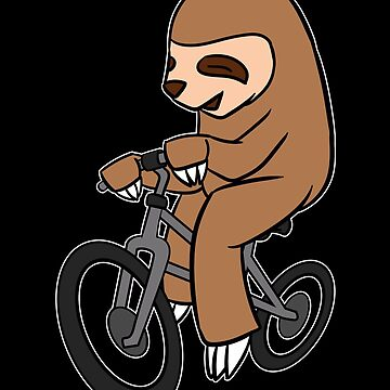 Sloth Riding A Bicycle Gift by Reutmor