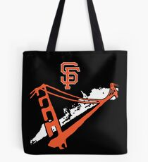 San Francisco Giants Stencil White Tote Bag