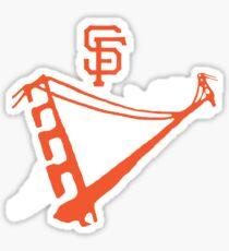San Francisco Giants Stencil White Sticker