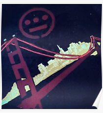 Stencil Golden Gate San Francisco Poster