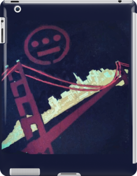 Stencil Golden Gate San Francisco by dswift