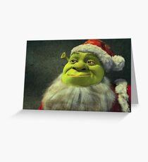 Santa Shrek Greeting Card