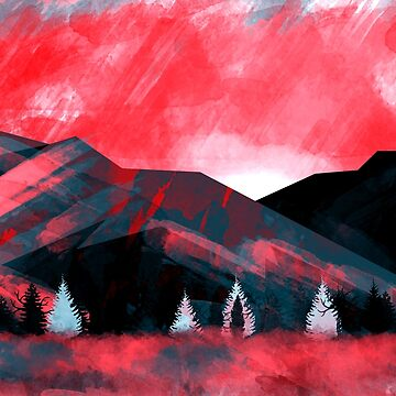 Red Dawn Mountains by DinoCreations