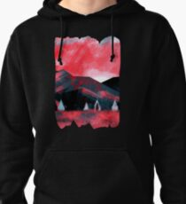 Red Dawn Mountains Pullover Hoodie