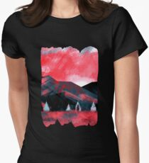 Red Dawn Mountains Women's Fitted T-Shirt