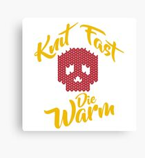 Knitting love gift knit fast die warm - knit quilt crochet Canvas Print
