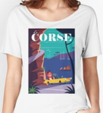 la Corse travel poster Women's Relaxed Fit T-Shirt