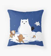 Snowcat Throw Pillow