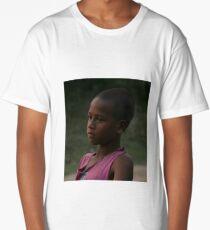 Boy, tea plantation, Assam, India Long T-Shirt