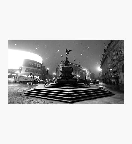 Piccadilly Snow Photographic Print