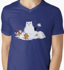 Snowcat Men's V-Neck T-Shirt