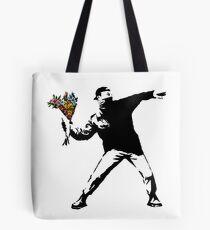 Banksy - Rage, Blumenwerfer Tasche