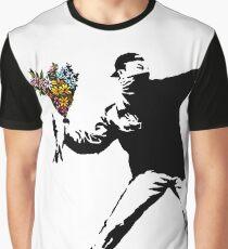 Banksy - Rage, Blumenwerfer Grafik T-Shirt