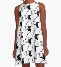 Banksy - Rage, Blumenwerfer A-Linien Kleid