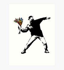 Lámina artística Banksy - rabia, lanzador de flores