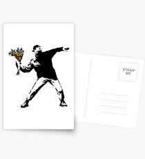 Banksy - Rage, Blumenwerfer Postkarten