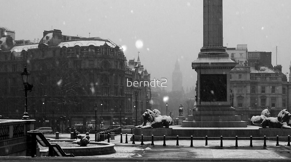 Trafalgar Square Snow by berndt2