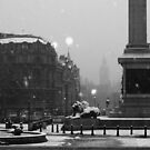 Trafalgar Square Snow by berndt2