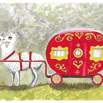 Alpaca Caravan by animatorgurl