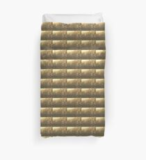 Autumn Morning at the Lake in Sepia Duvet Cover