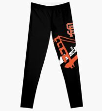 San Francisco Giants Stencil Black Background Leggings