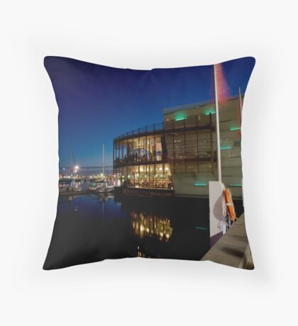 Olive boat Throw Pillow