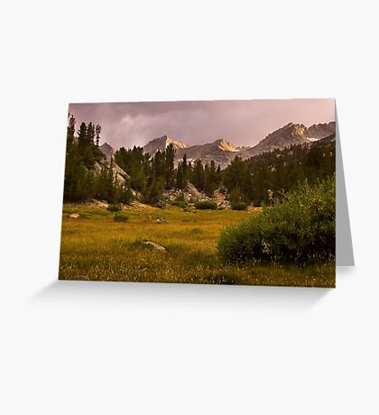 Meadows and Mountains Greeting Card