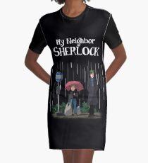 My Neighbor Sherlock Graphic T-Shirt Dress