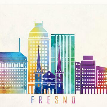 Fresno-Markstein-Aquarellplakat von paulrommer