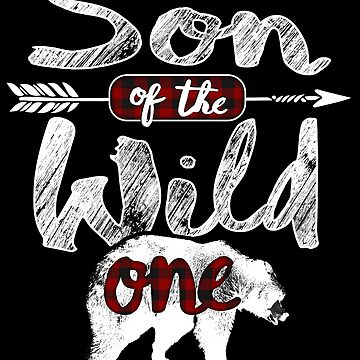 Son of the Wild One Shirt Bear Family Matching Buffalo Plaid lumberjack woodworking woodland plaid costume outfit pajamas 1st birthday Tribal arrow boho king by bulletfast