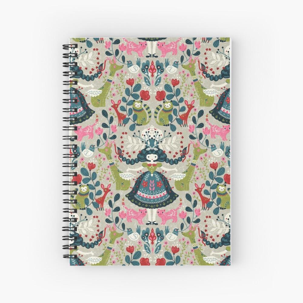 Scandinavian Girl Spiral Notebook