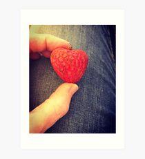 lychee love heart Art Print