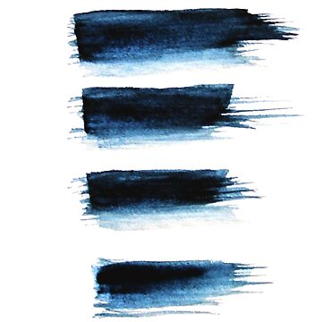 Indigo Stripes Abstract Minimal Art by StilleSkygger