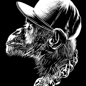 Cool Hip-Hop Monkey Gift by Reutmor
