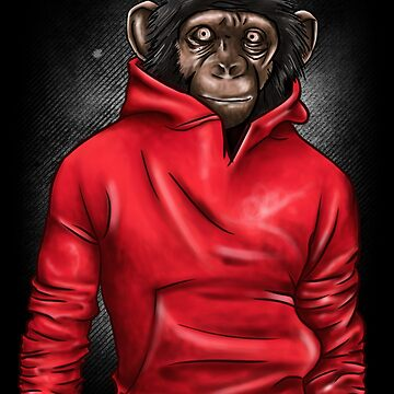 Monkey In A Hoodie Gift by Reutmor