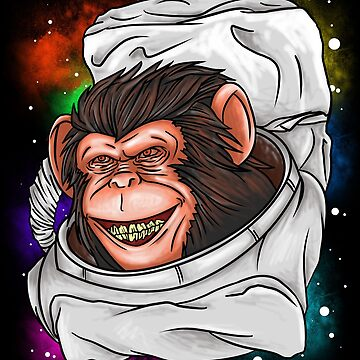 Astronaut Monkey Gift by Reutmor